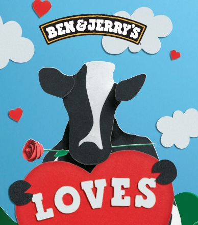 Ben & Jerry's ad copywriting Virginia Rowe